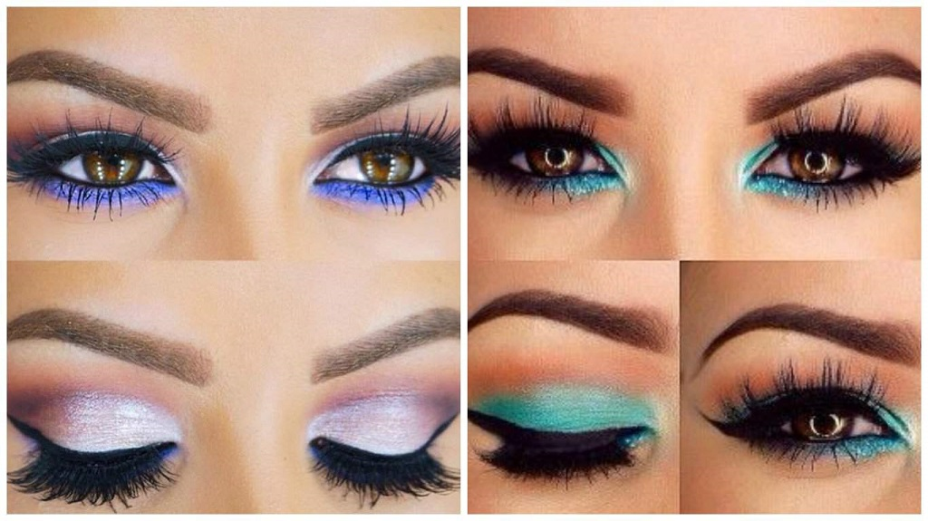 make up your eyes according to color and shape